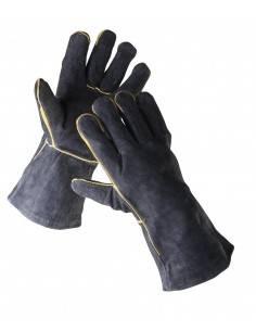 SANDPIPER - Manusi de sudor din piele spalt, negre