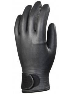 Manusi de protectie negre NITRIL , inchidere cu scai la incheietura GANTELINE