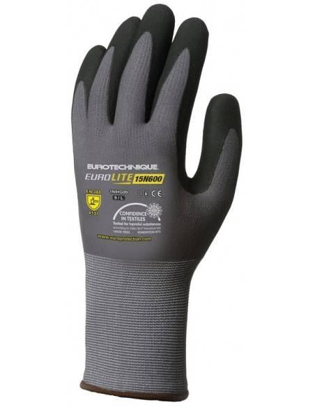 Manusi de protectie EUROLITE nitril Microspuma negru in palme