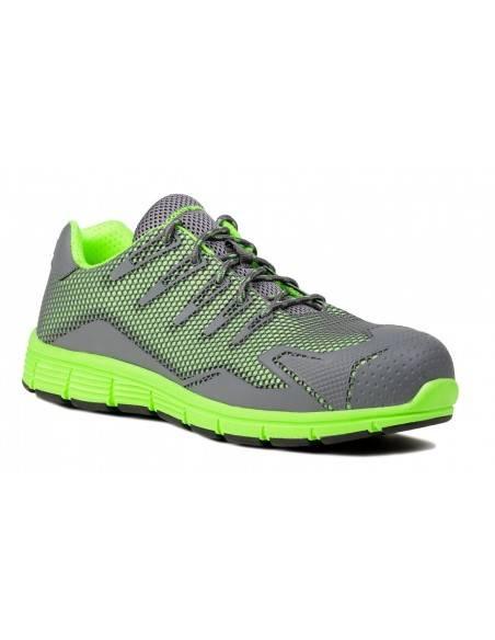 Pantofi FLOURITE stil sport, verzi ,respirabil,HRO  ,compozit S1P Ganteline