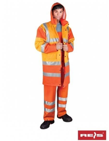 Costum de protectie impermeabil si reflectorizant PPDPU-STR