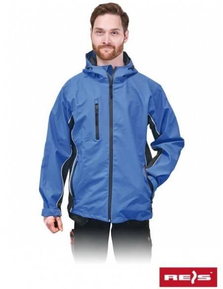 Jacheta de protectie impermeabila, albastra, cu gluga WATERTOON