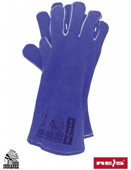 Manusi de protectie din piele de bovina, albastre, marimea 11 RSPBLUE-INDIANEX N