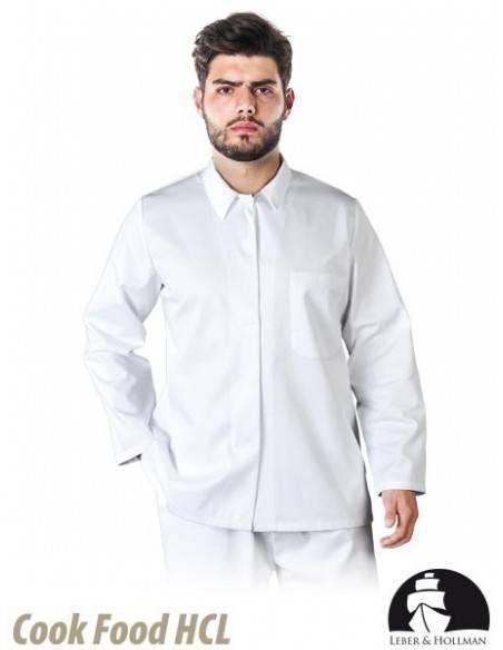 Bluza de protectie, alba, pentru barbati LH-FOOD+JBU