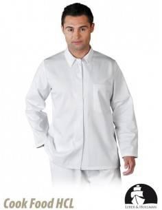 Bluza de protectie, alba, tip camasa, pentru barbati LH-FOOD_JBU