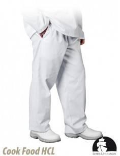 Pantaloni albi de protectie pentru barbati LH-FOOD_TRO
