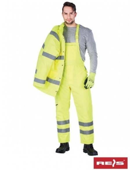 S-VIS- Salopeta (pantaloni cu pieptar) de protectie reflectorizanti izolati