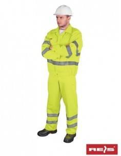 Costum de protectie refelctorizant (jacheta + pantaloni cu pieptar)