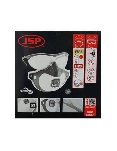 Masca FILTERSPEC de protectie cu supapa + ochelari JSP