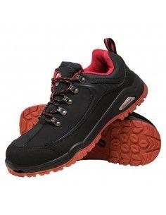 BRNECKER-Pantofi de protectie cu bombeu metalic si piele nubuck
