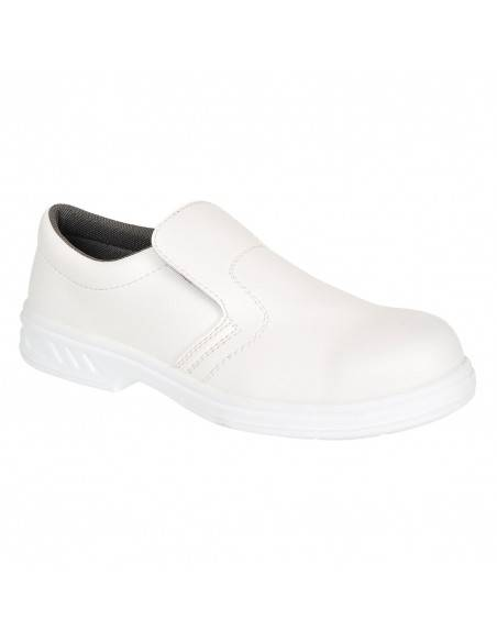 FW58-Pantofi de protectie albi Slip On O2 fara bombeu