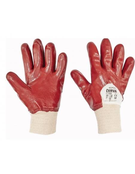Manusi de protectie imersate partial in PVC- REDPOLL