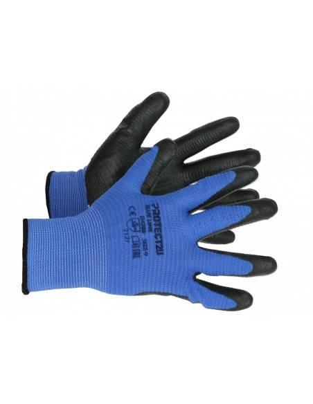 8279-Manusi de protectie imersate, de lucru, granulate BLUE