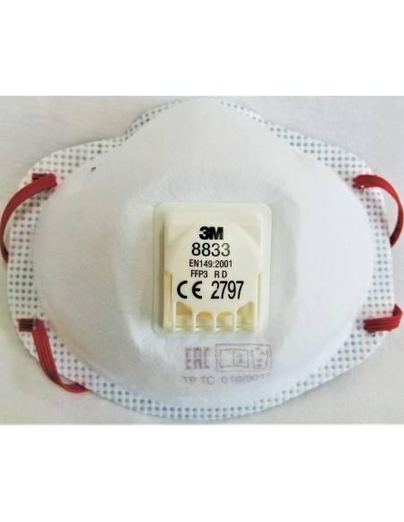Masca de protectie FFP3 3M 8833 cu valva