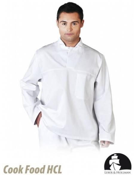 Bluza de protectie, alba, tunica, pentru barbati LH-FOOD_JWB