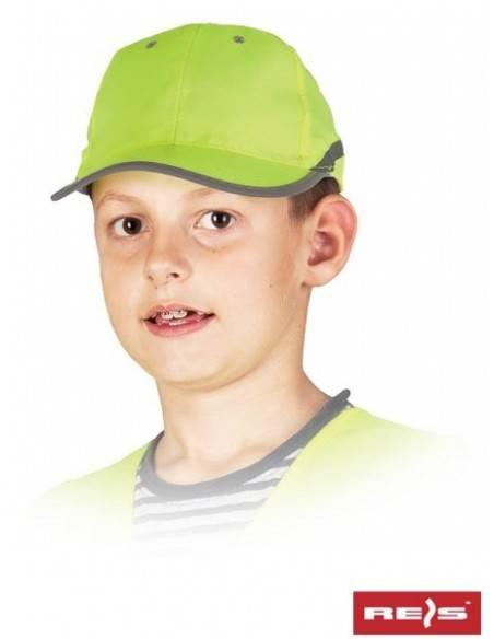 Sapca de protectie reflectorizanta pentru copii CZFLUO-KIDS