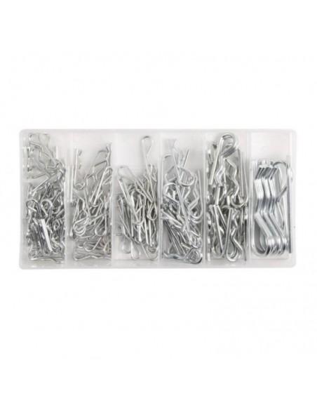 Set 150 buc de stifturi drepte, Hogert, din otel, 6 dimensiuni
